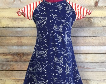 Stars of the Sea Flutter Dress