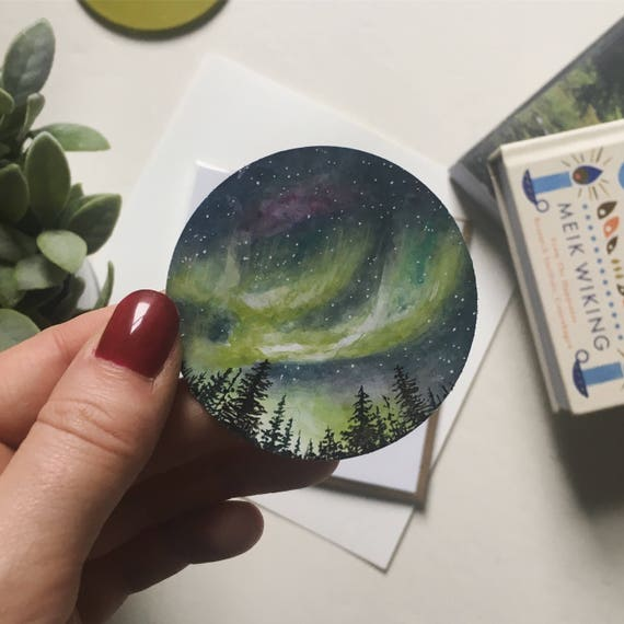 Watercolour Northern Lights Sticker