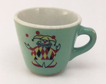 Vintage Shenango China Clown Diner Ware Coffee Cup