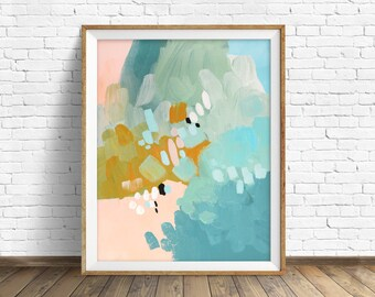 "colorful abstract wall art, large abstract wall art, pastel colors, abstract painting, instant download printable art, print - ""Conclusions"""