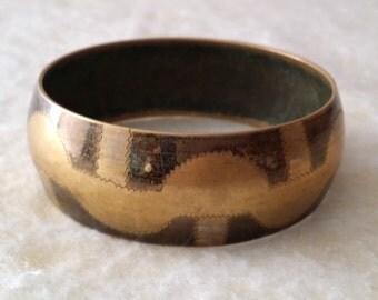 STUNNING Vintage Bracelet. India Brass Bangle.