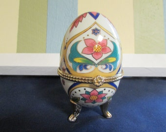 VINTAGE Imitation of Faberge jewelry /Coffre / VINTAGE Faberge Egg / VINTAGE Ceramic Egg
