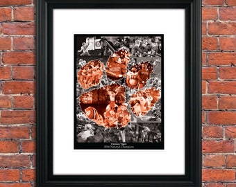 Clemson Tigers - 2016 National Champions - Limited Edition - 11x14 Collage - Only 300 Prints Made