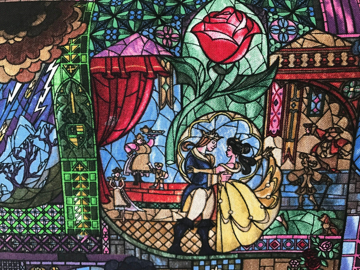 Disney Princess Beauty And The Beast Stained Glass Belle