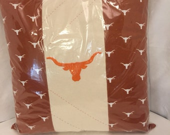 Texas Longhorn decorative pillow