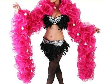Organza Boa - Ruffle Boa - Organza Ruffle Boa, Burlesque Boa, Rüschenboa, Stripease Boa, Boa de Organza, Boa de Froufrous