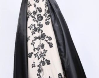 Black and White Floral Gown