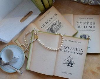 Six livres, Erckmann-Chatrian, Fritz L'Ami, Waterloo, L'Invasion, Le Conscrit De 1813 et Le Blocus, Alphonse Daudet, Contes Du Lundi