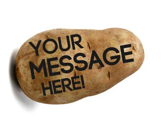 Potato Parcel - Send a message on a Potato! Funny greeting card alternative (congrats, happy birthday, I love you, get well soon)