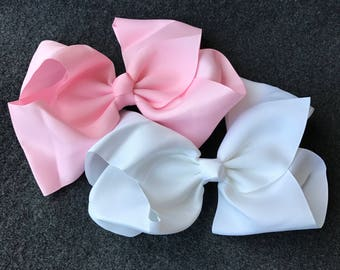 Set of 20 Extra Large Hair Bows, 8 Inch Bows, Large Hair Bows, 8 Inch Hair Bows, Girls Large Hair Bows, Big Bows