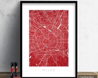 Mappa di milano etsy for Home decor milano