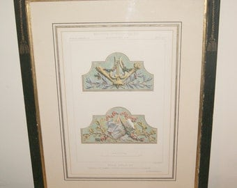 Framed and Glazed 19th Century Victorian French Louis XVI Design Print: Motif's Historiques d' Architecture by Daly