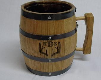 1 Liter Engraved Barrel Mug