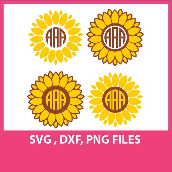 Instant Download Sunflower Svg Dxf Png Formats Cricut