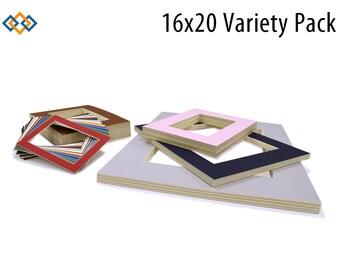 16x20 Photo Mats Variety 10 Pack - (CREAM CORE)