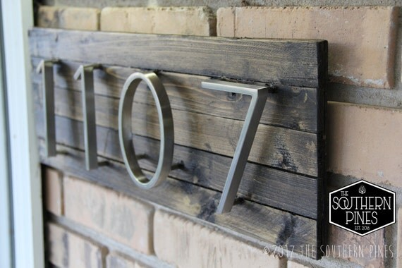 modern rustic home address sign farmhouse espresso house
