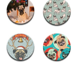 A pack of 4 of Mad about PUGS Pattern weights I deal for weighing down patterns on delicate fabrics no need for pins like TV sewing Bee