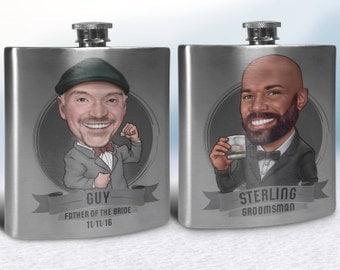Groomsmen Flasks, Groomsmen Gifts Flasks, Personalized Groomsmen Flasks, Flasks for Groomsmen Gifts, Custom Flasks for groomsmen, Flasks Set