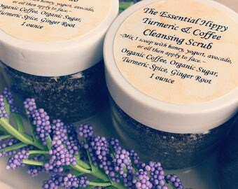 Turmeric and Coffee Cleansing Scrub ~ Organic ~ Mix Yourself