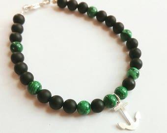 Men bracelet 925 Silver and stones