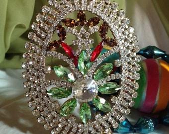 Stunning Vintage Rhinestone Easter Egg, Crystal Easter Egg Decoration