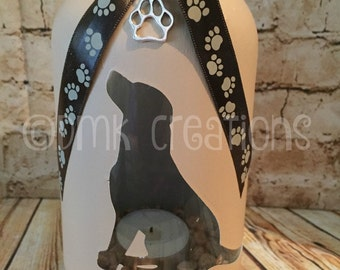 Labrador Retriever  Mason Jar Tea Light Candle Holder, lab, dog, tea light, painted mason jar, Labrador Retriever, tea light candle holder