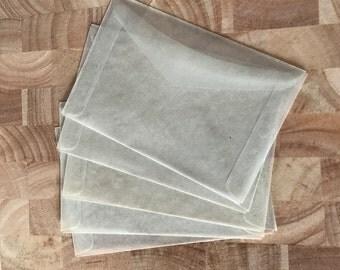 """3 1/2""""x 4 1/2"""" Vintage Glassine Envelopes"""