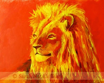 Canvas * power animal Lion *, art print