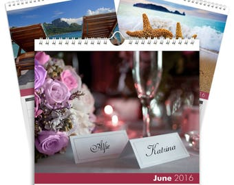 Personalized Love and Romance Calendar - Desktop Calendar