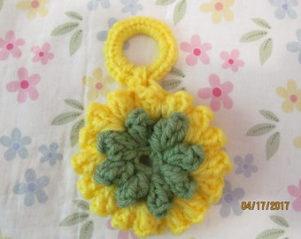 Crocheted Flower Key Chain