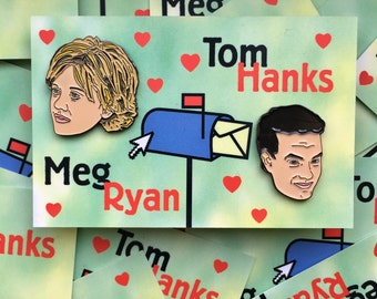 You've Got Mail. Tom Hanks and Meg Ryan LIMITED EDITION enamel pins