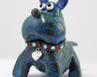 Resin Staffy dog figurine
