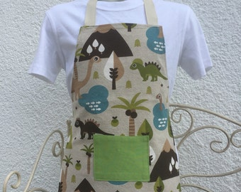 Small dinosaur apron