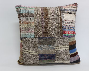 20x20 Patchwork Kilim Pillow 20x20 Sofa Kilim Pillow Fllor Kilim Pillow Bed Kilim Pillow Anatolian Kilim Pillow Cushion Cover SP5050-1147
