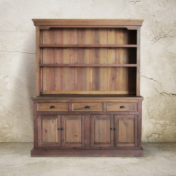 Hutch buffet sideboard reclaimed wood china cabinet
