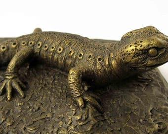 Imitation Bronze Salamander Figurine Fire Salamander Statue