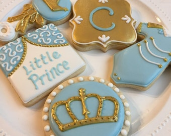 Little Prince Baby Shower Cookies (1 Dozen)