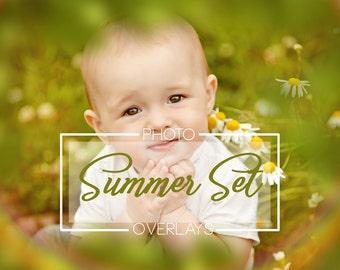43 Summer Set photo overlays, Butterfly overlays, flower overlays, Lens flare overlays