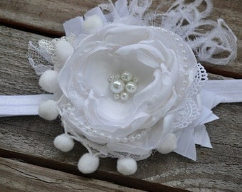White Headband, Baptism, Christening, Celebration, Wedding