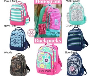 Monogram Backpacks/ Personalized Kids backpacks/ Free Personalization/Monogram girls backpack/ boys backpack/kids book bag, summer camp
