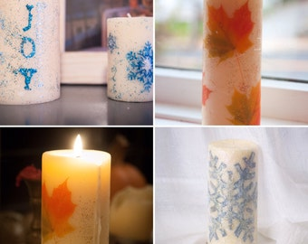 Unscented Customized Pillar Candle