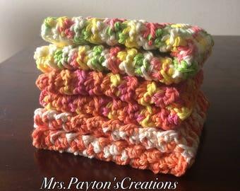 Cotton dish cloths - crochet dish cloths - wash cloths