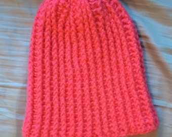 Hot Pink Slouchy Beanie