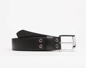 Classic leather belt // Chaykovskiy