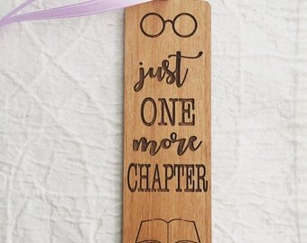 Engraved Quote Bookmark for Reading Lover - One More Chapter
