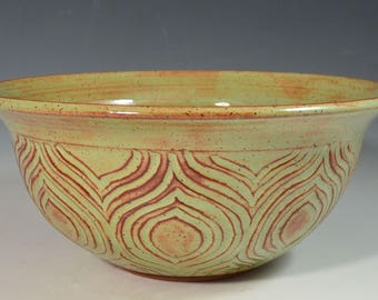 Hand-carved lotus bowl