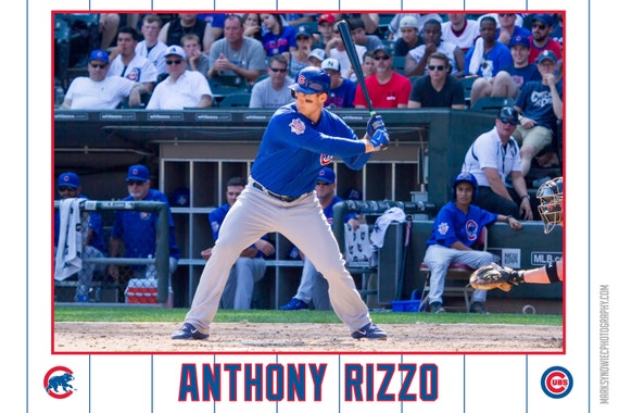 Anthony Rizzo Chicago Cubs Canvas Wrap