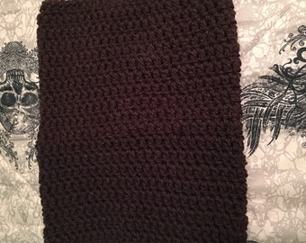 Crocheted Chocolate Brown Cowl