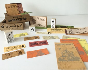 Japanese Retro Coffee Ticket