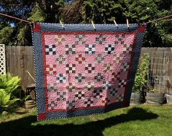shirting nine patch quilt
